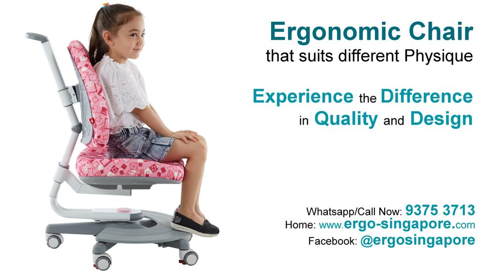 Children's Ergonomic Chair that fit Child's Body size