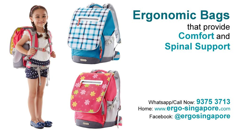 School Bag ergonomically designed to fit body contour of school children