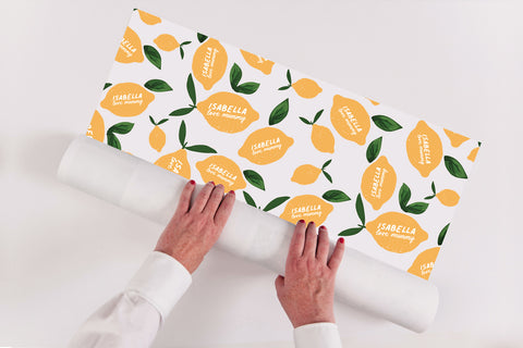 Personalised Amalfi Lemons Wrapping Paper