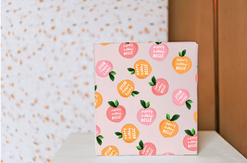 Peach Bellini Wrapping Paper