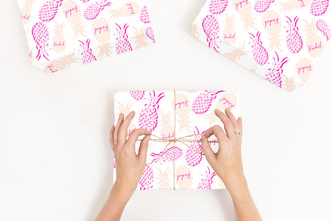 Personalised Pineapple Wrapping Paper