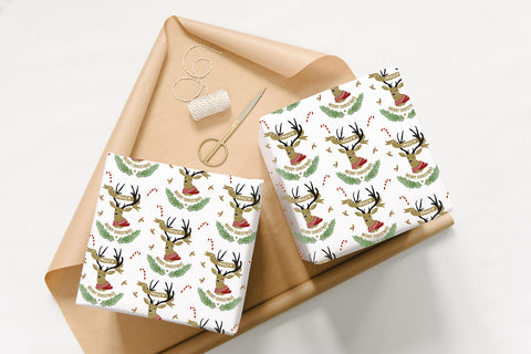 Personalised Stag Wrapping Paper