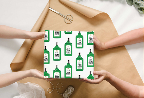 Personalised Gin Wrapping Paper