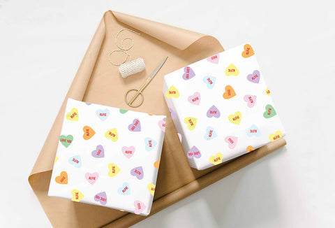 Personalised Love Heart Wrapping Paper