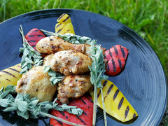 Barbecued Lemon Oregano Chicken with Gruener Veltliner