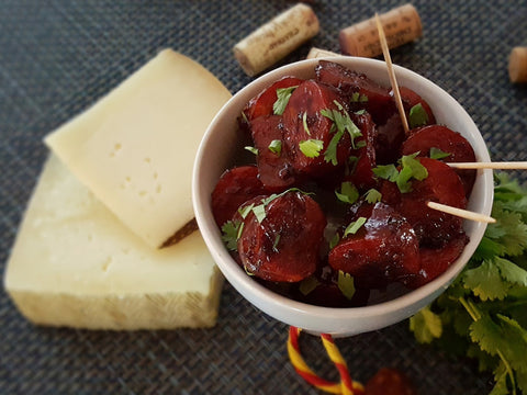 Chorizo & Red Wine Tapa with Modern Spanish Red
