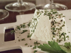 Fresh Goat Cheese with herbs with Sauvignon Blanc or Sancerre