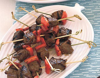 Lamb Kebabs with Pomegranate-Cumin Glaze with Shiraz