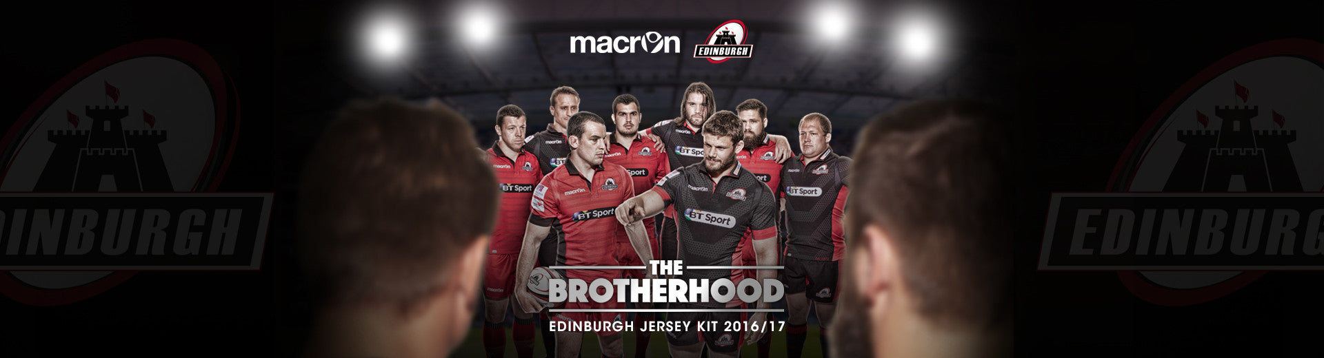 Macron Edinburgh Rugby Home and Away Kits 2016/17