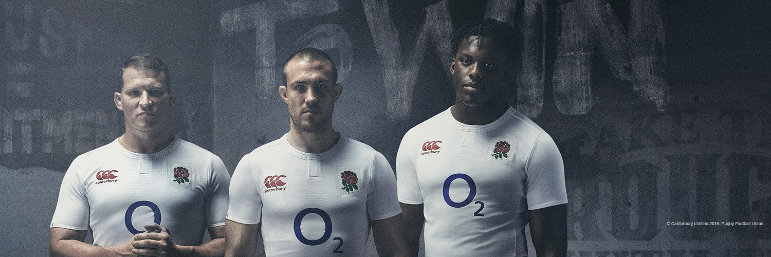 New Canterbury England Rugby Home Kit unveiled for the 2016/17 season