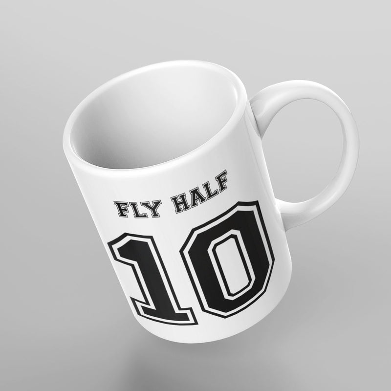 Fly Half Number 10 Rugby Mug