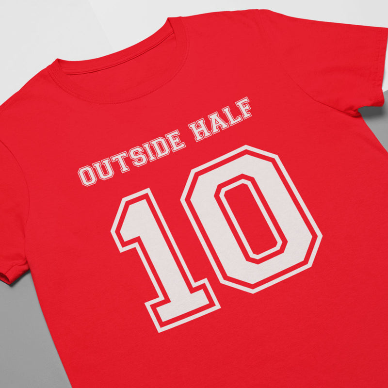 Outside Half Number 10 Rugby Tee