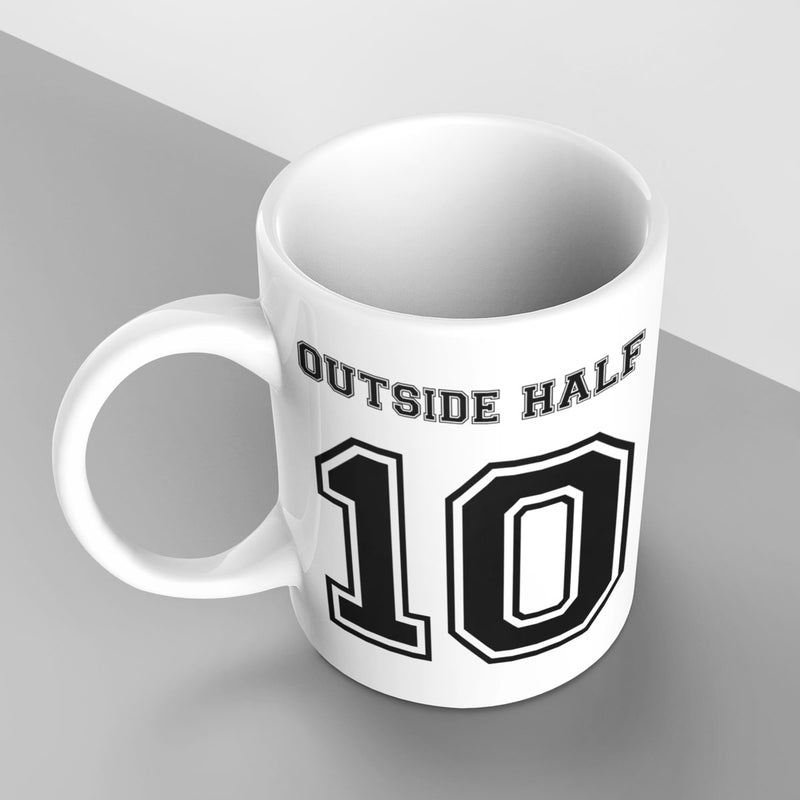 Outside Half Number 10 Rugby Mug