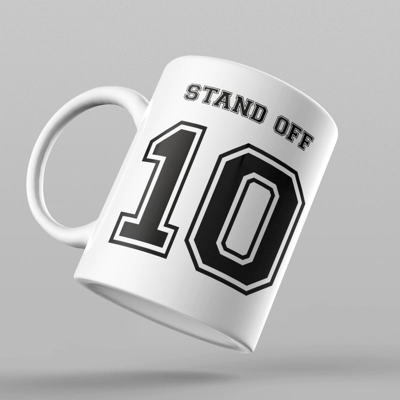 Stand Off Number 10 Rugby Mug