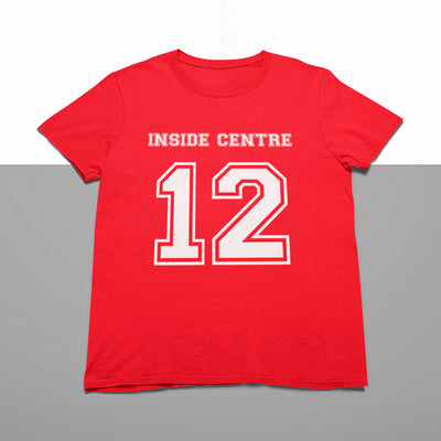 Inside Centre Number 12 Rugby Tee - First XV rugbystuff.com