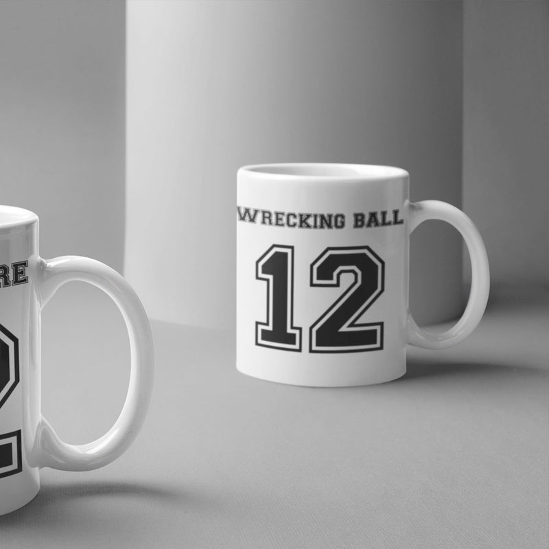 Wrecking Ball Number 12 Rugby Mug