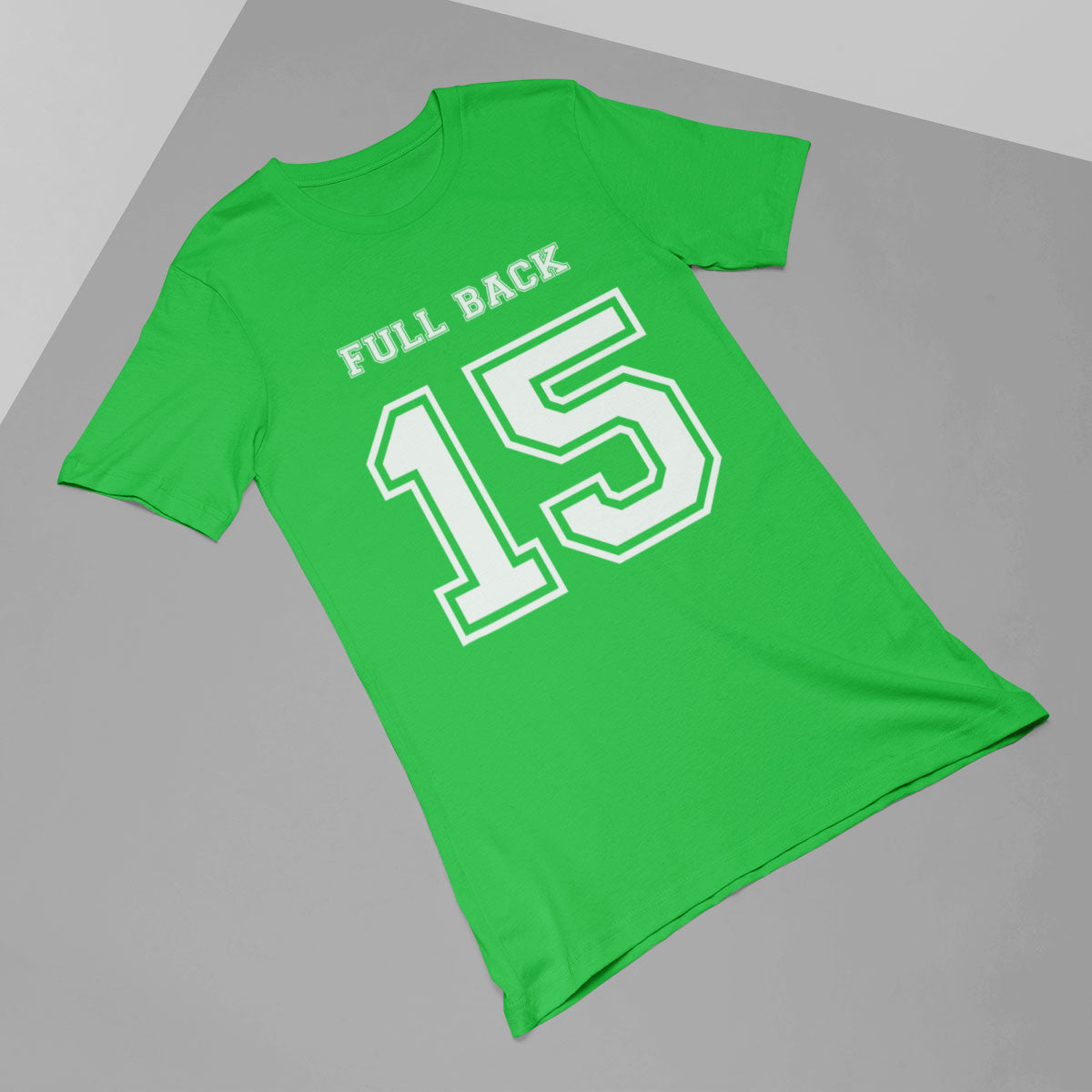 Full Back Number 15 Rugby Tee - First XV rugbystuff.com