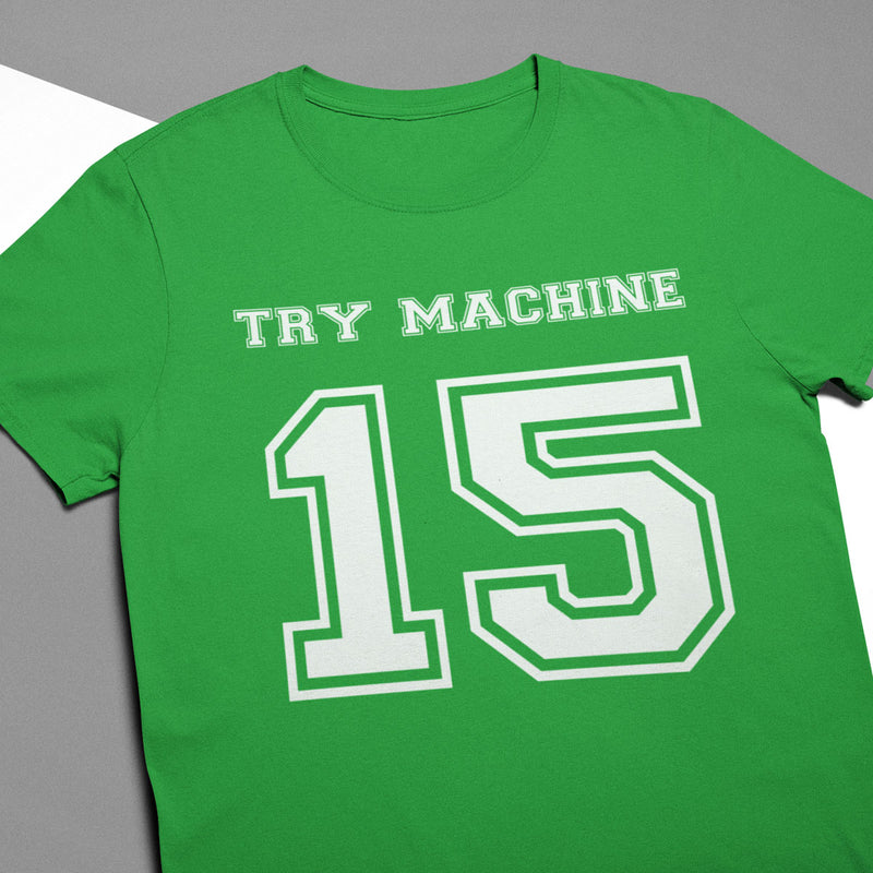 Try Machine Number 15 Rugby Tee