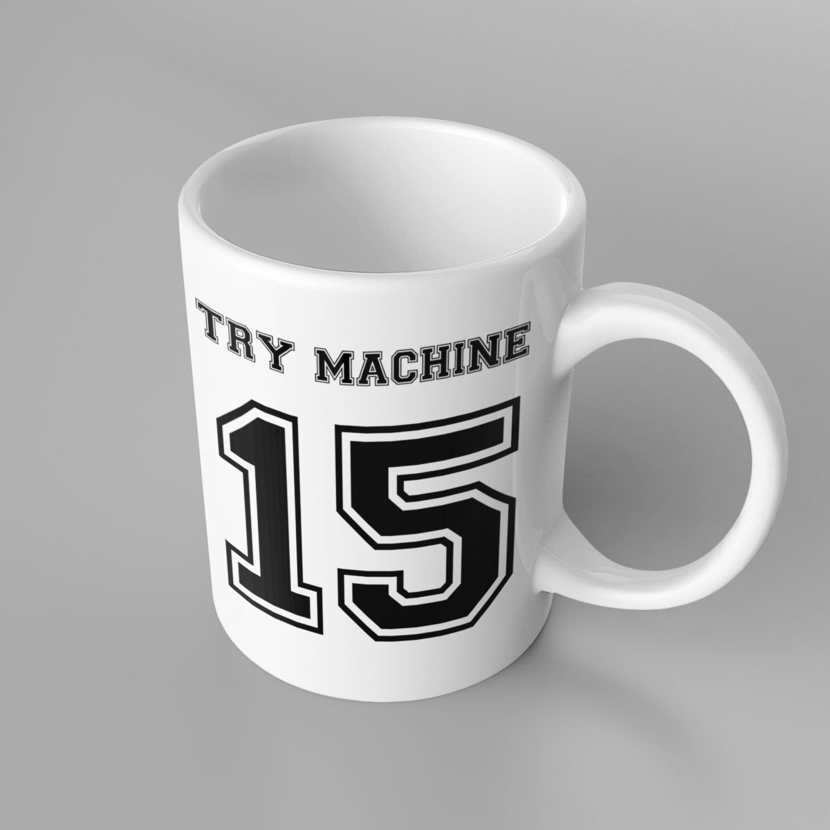 Try Machine Number 15 Rugby Mug