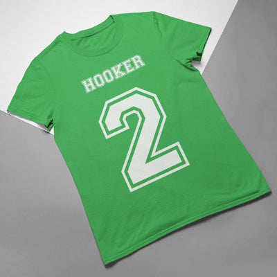 Hooker Number 2 Rugby Tee - First XV rugbystuff.com