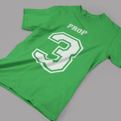 Prop Number 3 Rugby Tee - First XV rugbystuff.com