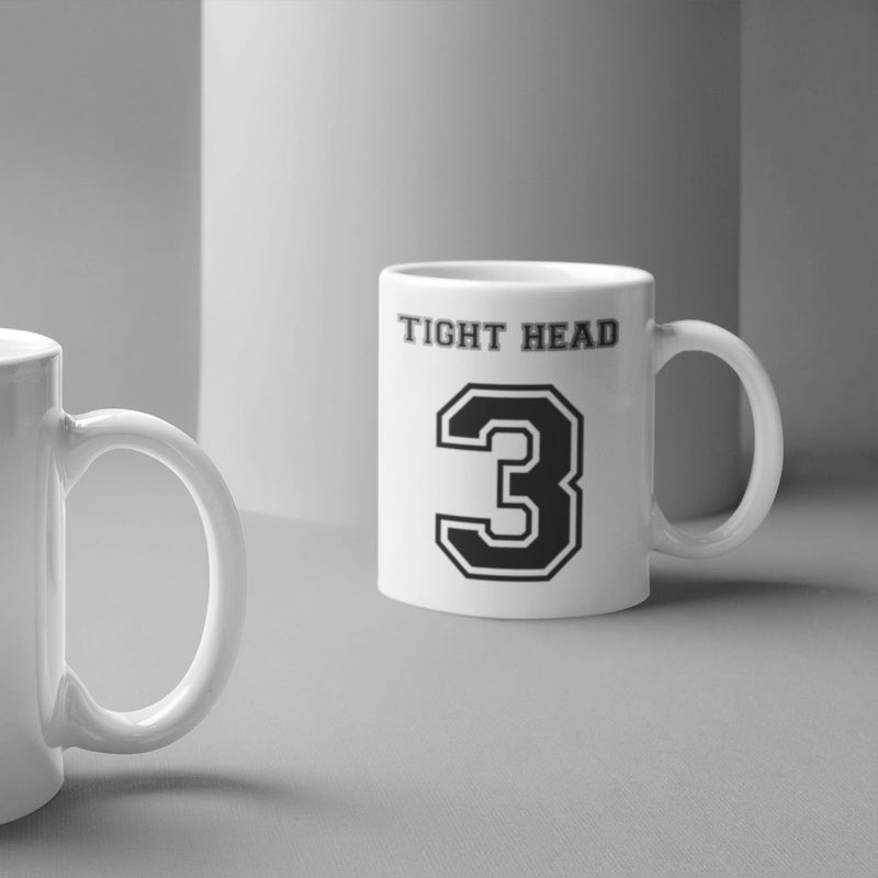 Tight Head Prop Number 3 Rugby Mug