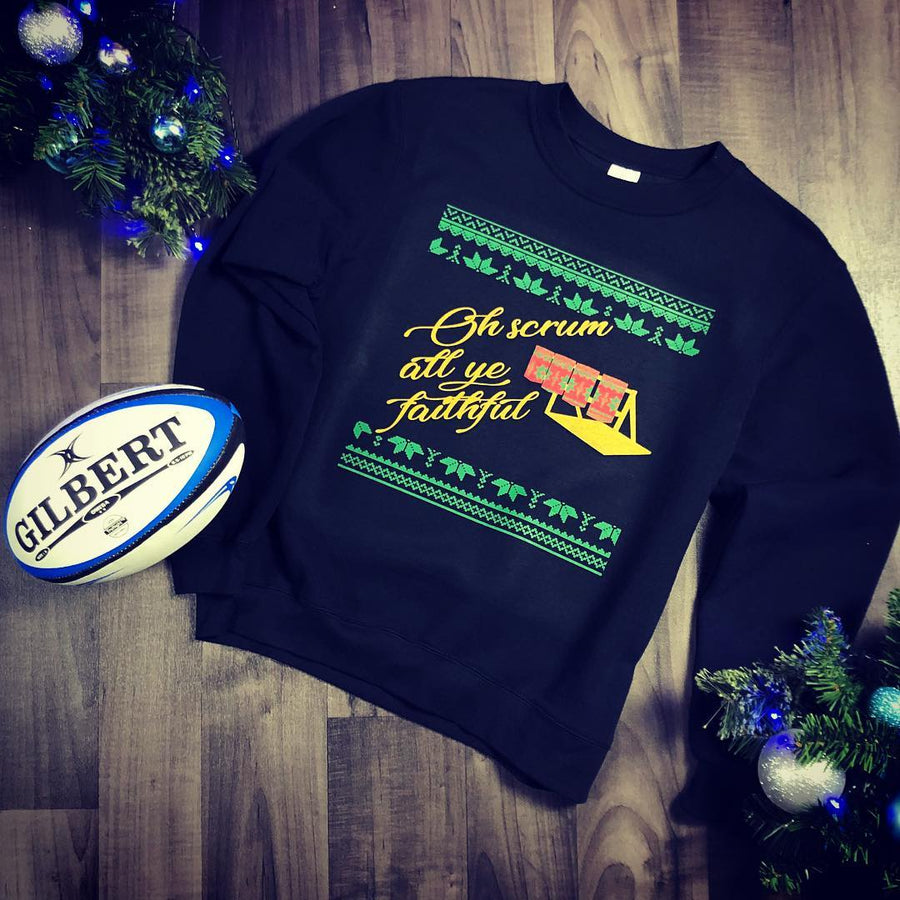 Scrum All Ye Faithful Rugby Christmas Jumper