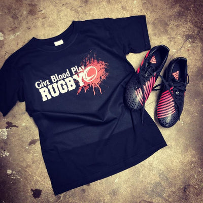 Kid's Give Blood Play Rugby Tee - First XV rugbystuff.com