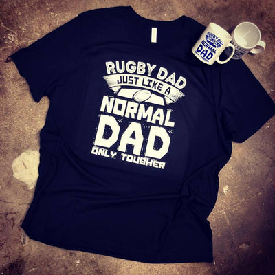 Rugby Dad, Just Like A Normal Dad Only Tougher Mug