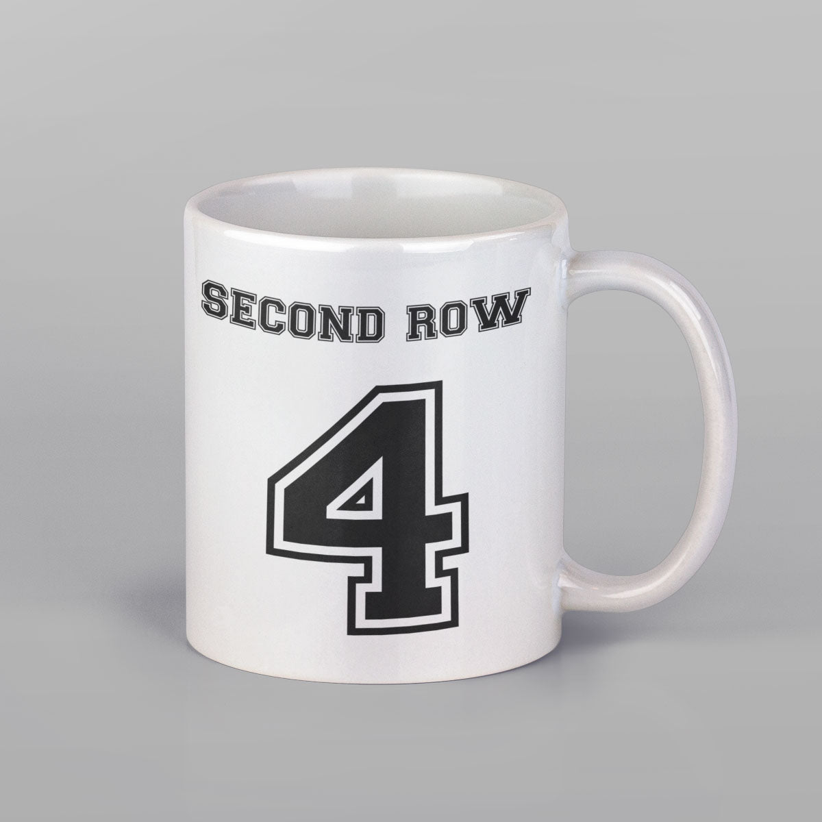 Second Row Number 4 Rugby Mug