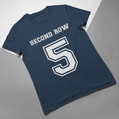 Second Row Number 5 Rugby Tee