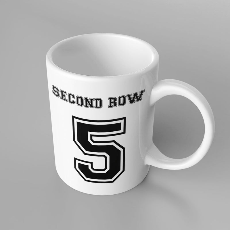 Second Row Number 5 Rugby Mug