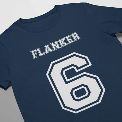 Flanker Number 6 Rugby Tee - First XV rugbystuff.com