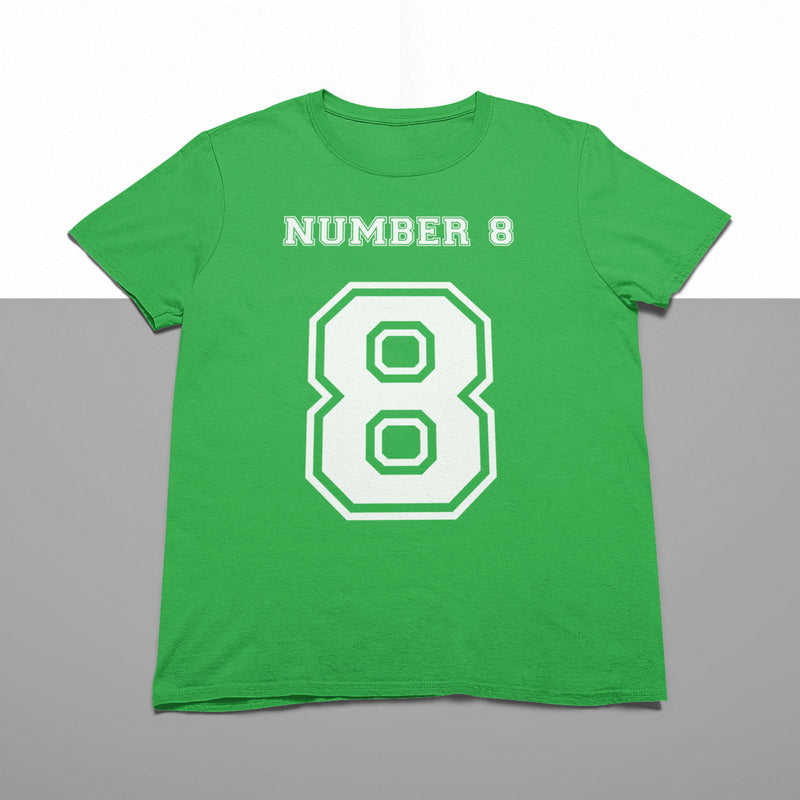 Number 8 Rugby Tee - First XV rugbystuff.com