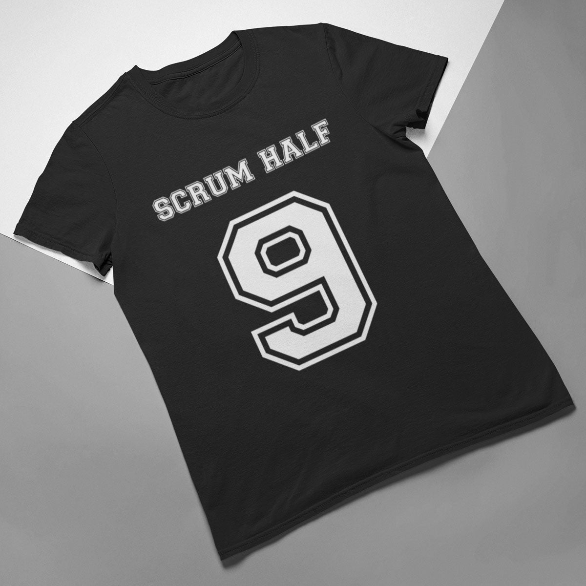 Scrum Half Number 9 Rugby Tee - First XV rugbystuff.com