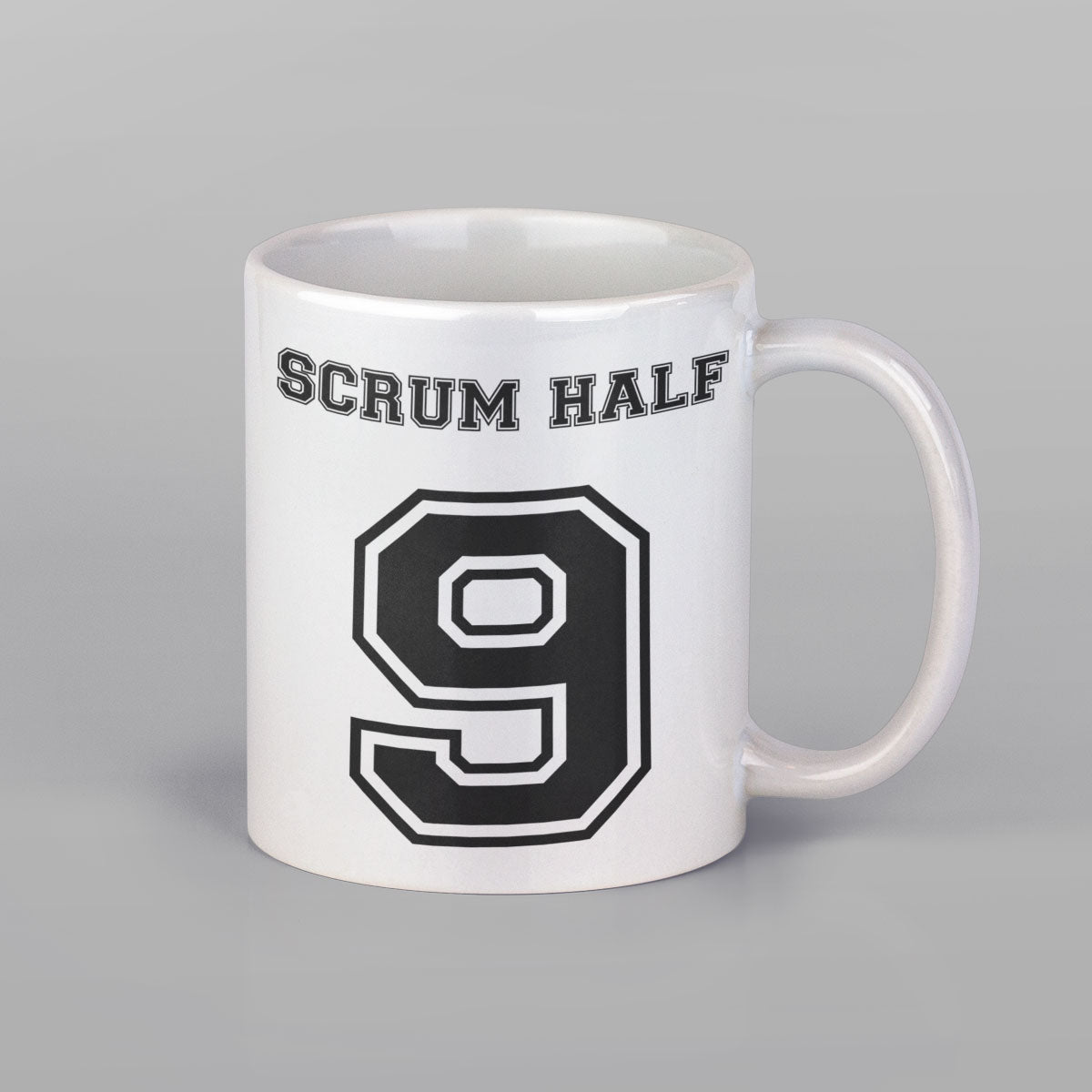 Scrum Half Number 9 Rugby Mug
