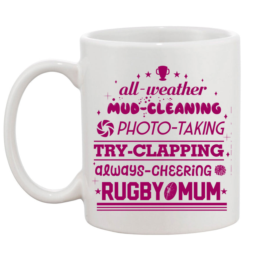 All Weather Rugby Mum Mug