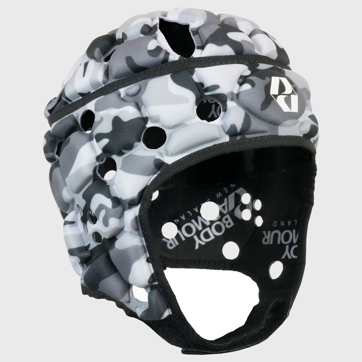 Kid's Ventilator Rugby Headguard Camo Black