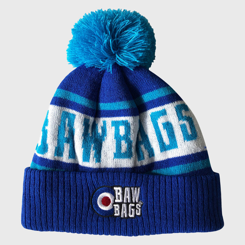 Premium Bobble Beanie Hat Blue