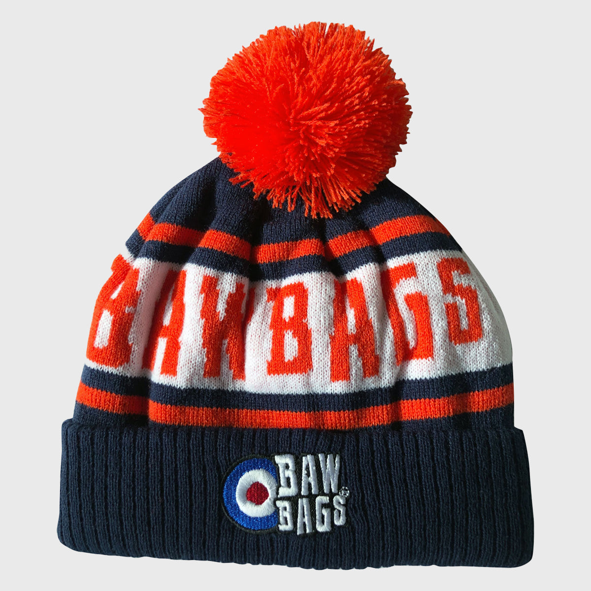 Premium Bobble Beanie Hat Orange