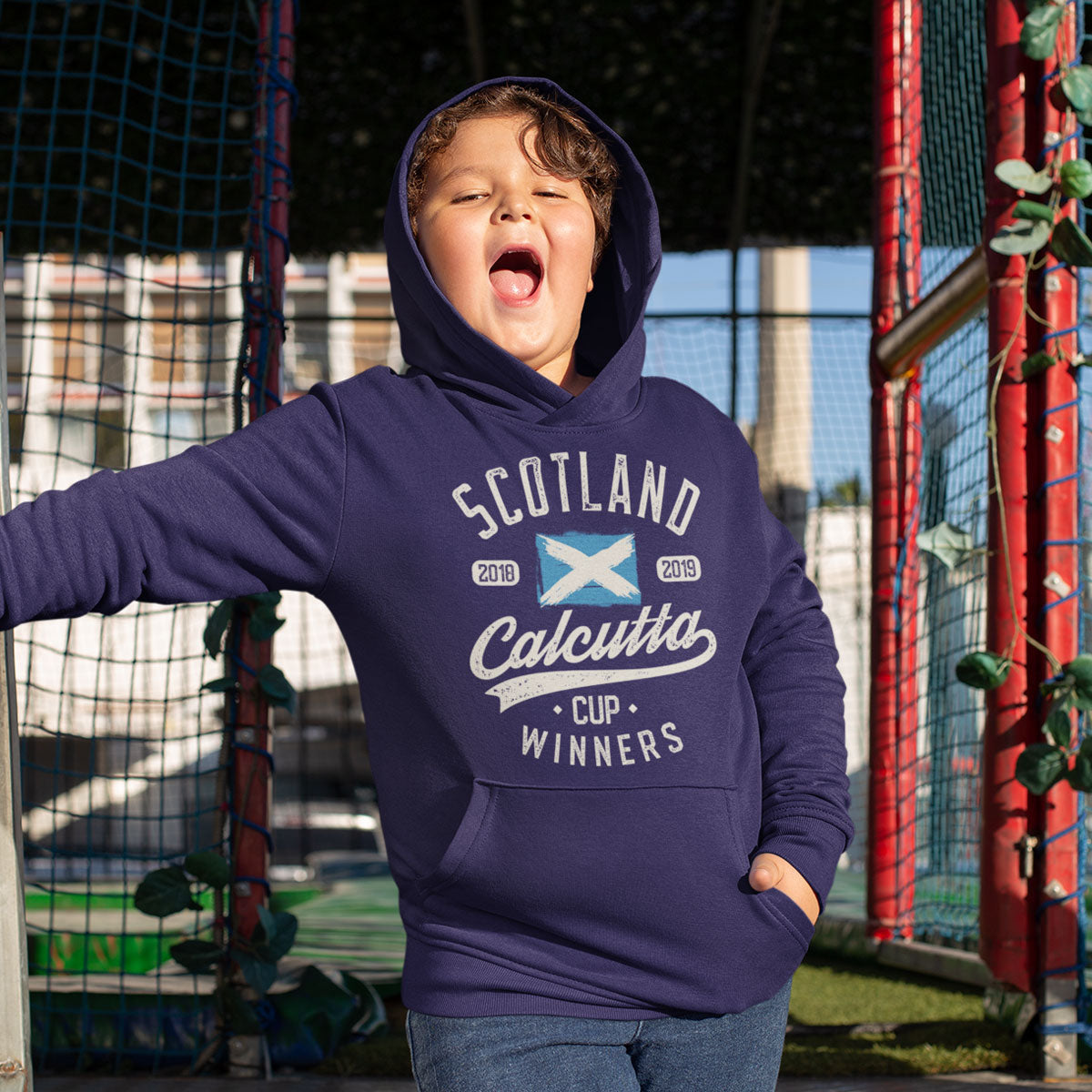 Kid's Scotland 2018 & 2019 Calcutta Cup Winners Hoody - First XV rugbystuff.com