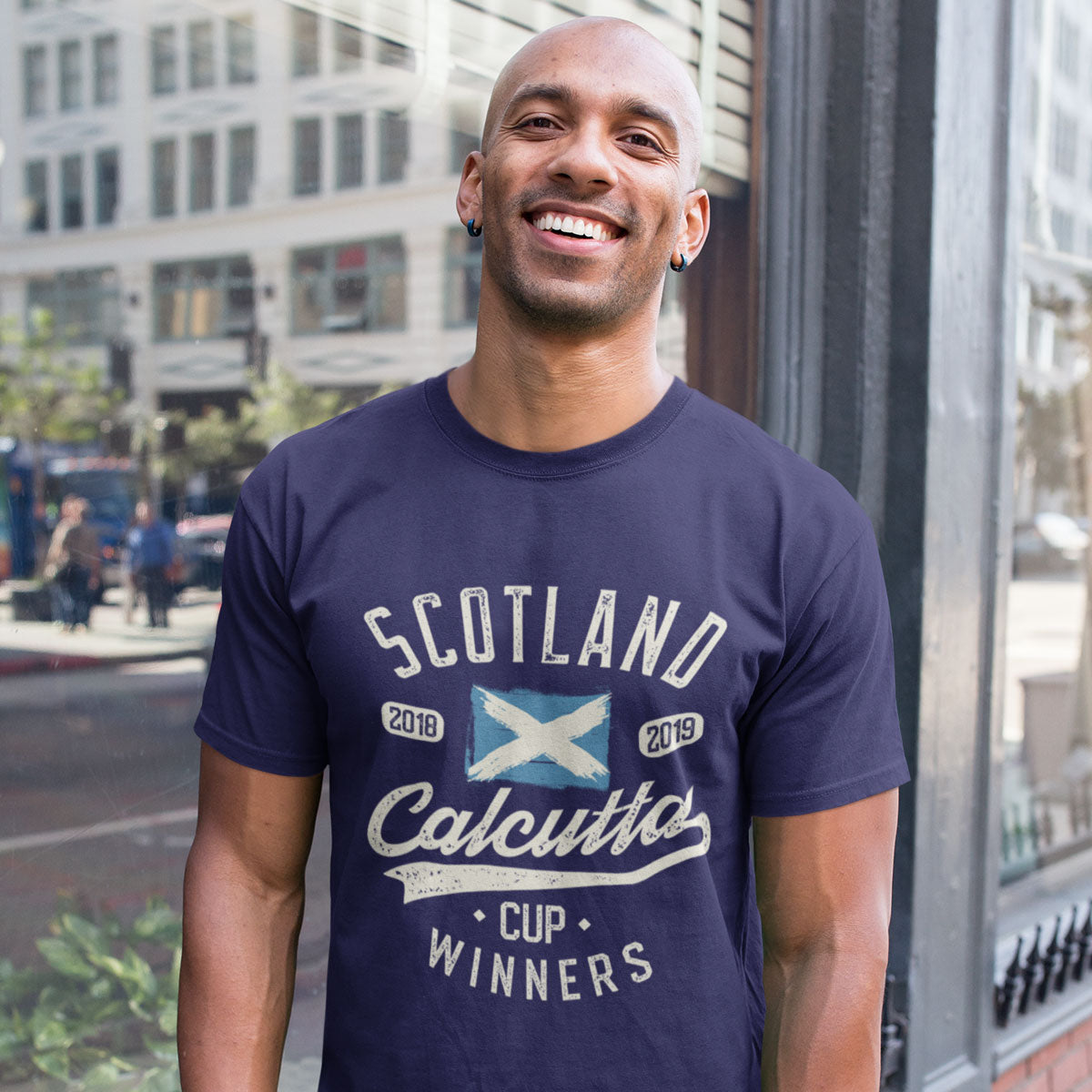 Men's Scotland 2018 & 2019 Calcutta Cup Winners Tee