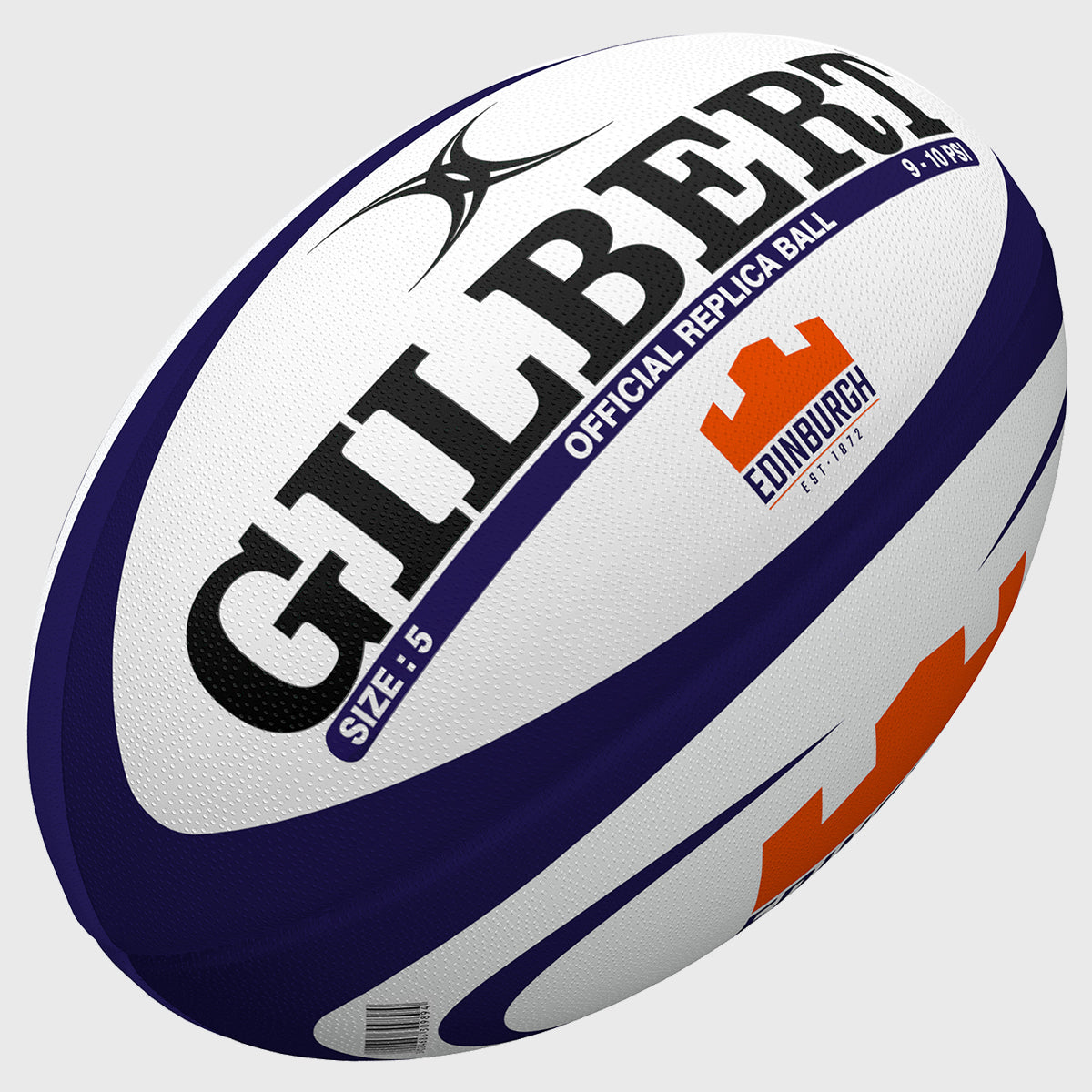 Edinburgh Replica Rugby Ball White/Navy/Orange - First XV rugbystuff.com