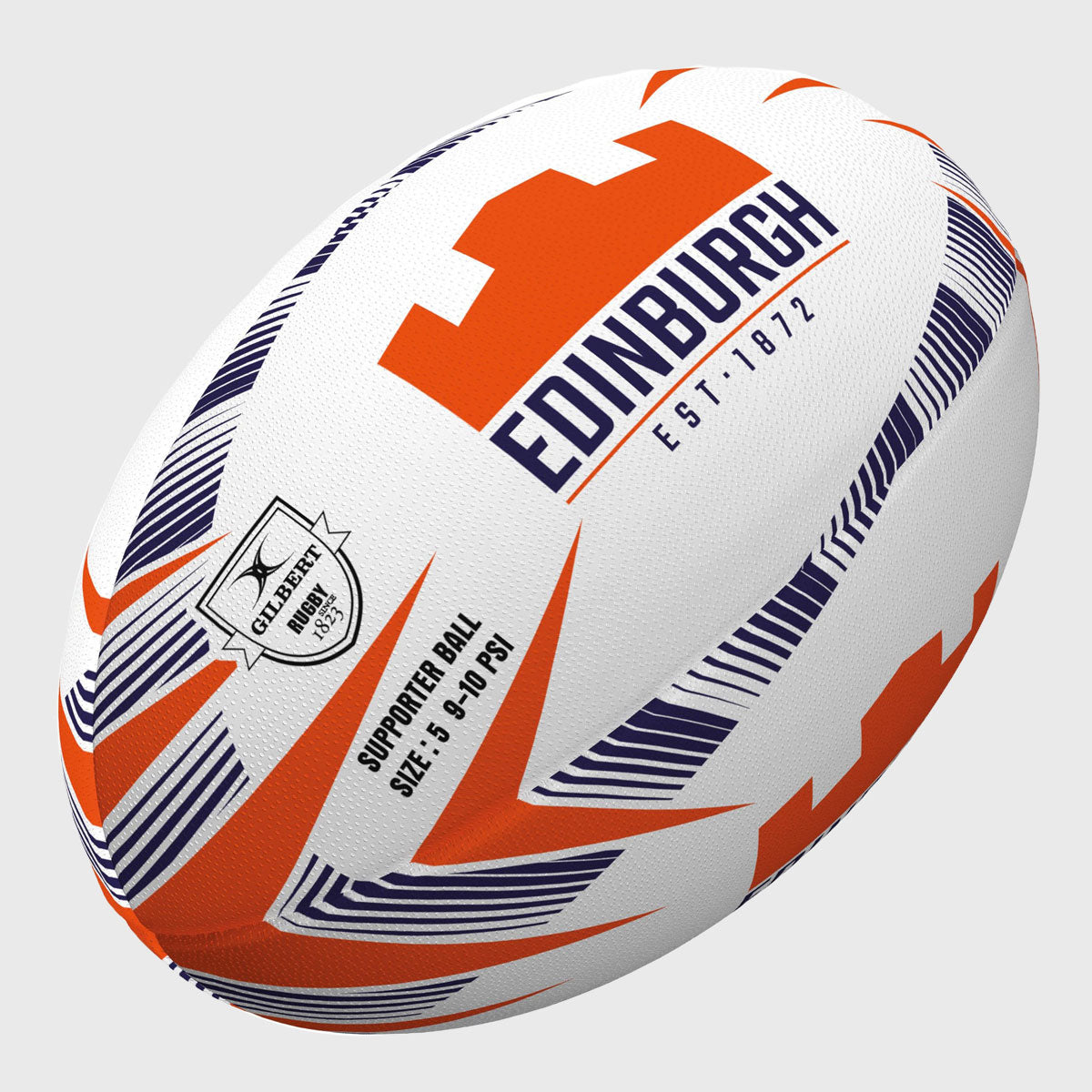 Edinburgh Supporter Rugby Ball White/Navy/Orange