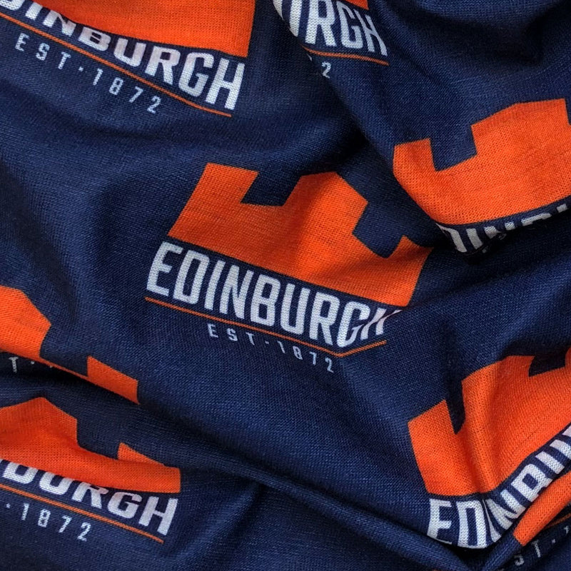 Edinburgh Rugby Wizard Sleeve Buff Navy/Orange