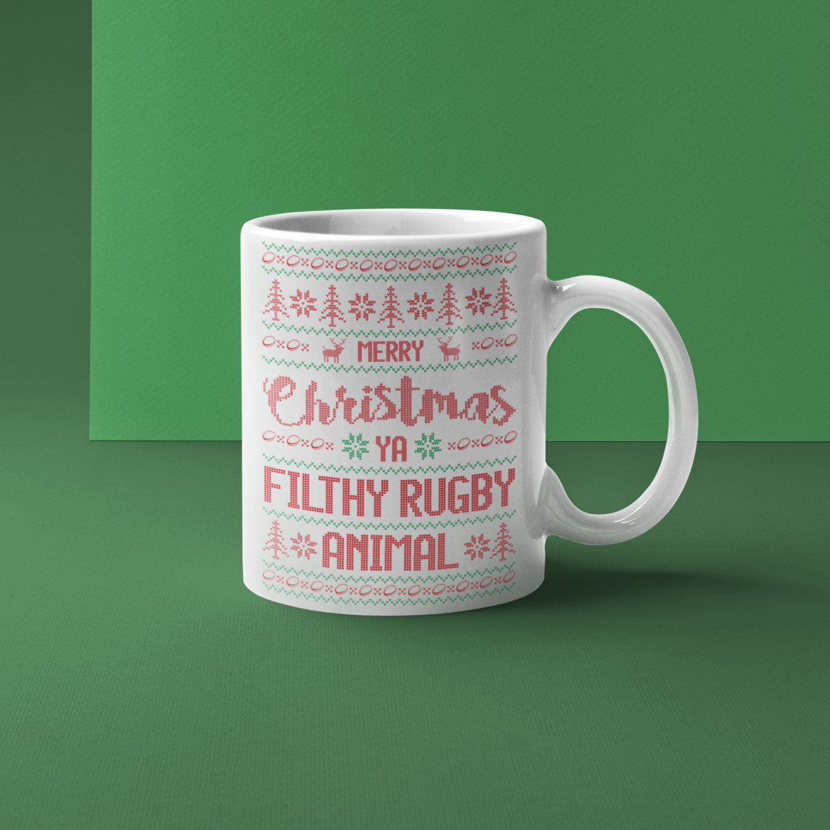 Merry Christmas Ya Filthy Rugby Animal Mug