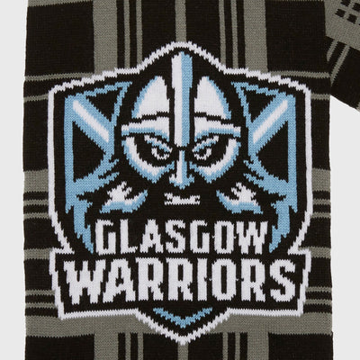 Glasgow Warriors Rugby Scarf Black/Tartan 2019/20 - First XV rugbystuff.com