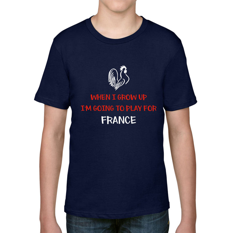 Kid's When I Grow Up, I'm Going To Play For France Rugby Tee