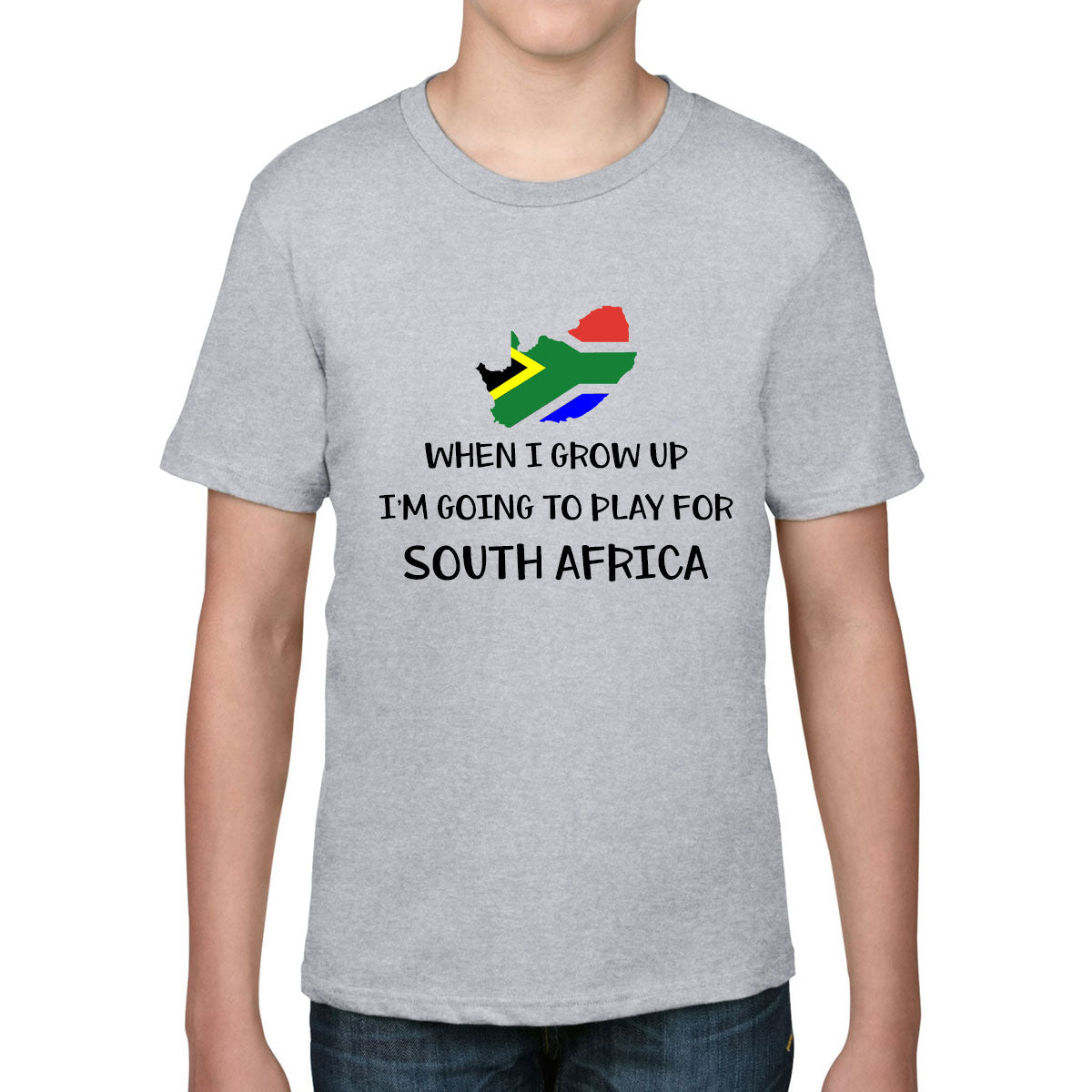 Kid's When I Grow Up, I'm Going To Play For South Africa Rugby Tee - First XV rugbystuff.com