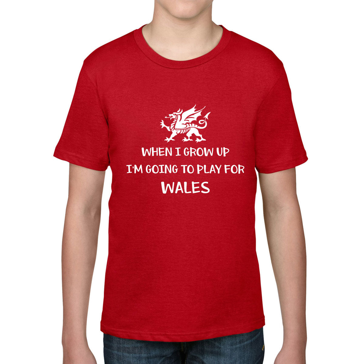 Kid's When I Grow Up, I'm Going To Play For Wales Rugby Tee